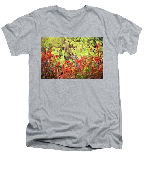 Men's V-Neck T-Shirt featuring the photograph Christmas Cactii by David Chandler
