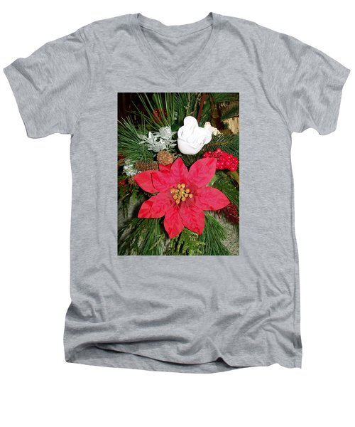 Christmas Centerpiece Men's V-Neck T-Shirt by Sharon Duguay