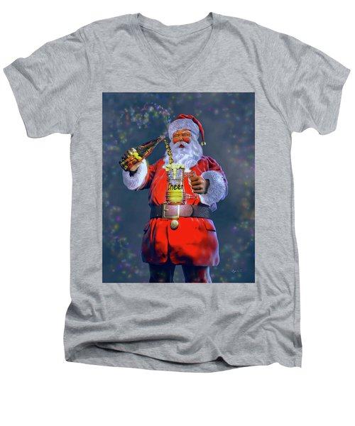 Christmas Cheer Iv Men's V-Neck T-Shirt by Dave Luebbert