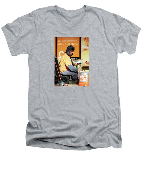 Men's V-Neck T-Shirt featuring the photograph Christmas Cheer by Joe Jake Pratt