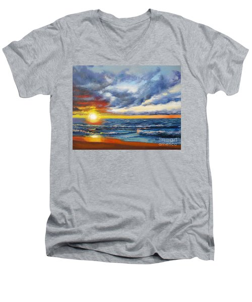 Christmas Cove Men's V-Neck T-Shirt