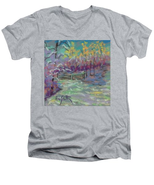 Christmas Day Sketch Men's V-Neck T-Shirt by Rae  Smith PAC