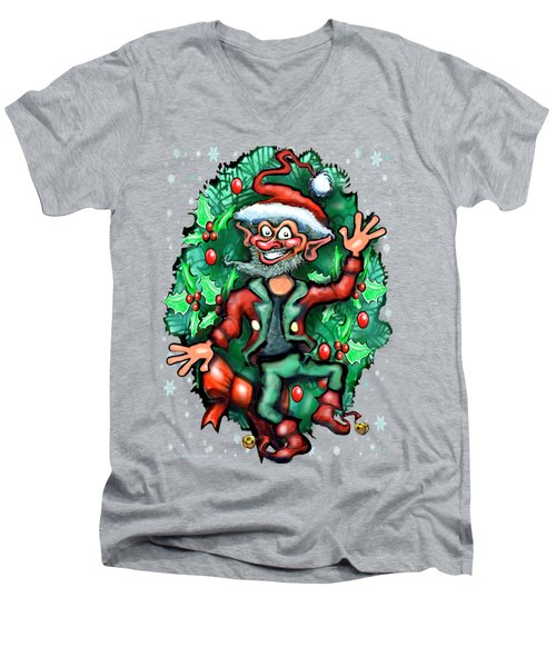 Christmas Elf Men's V-Neck T-Shirt