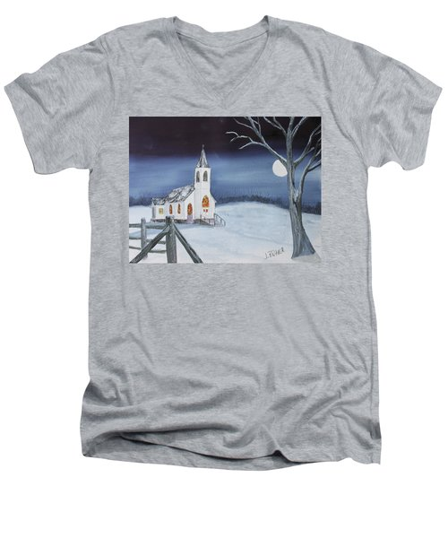 Christmas Eve Men's V-Neck T-Shirt by Jack G Brauer