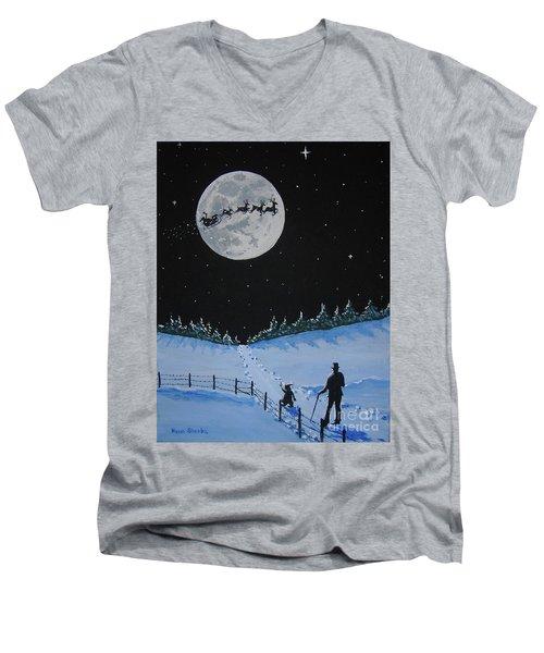 Christmas Eve Stroll Men's V-Neck T-Shirt