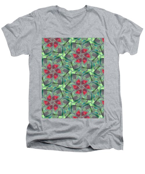 Christmas Flowers Men's V-Neck T-Shirt