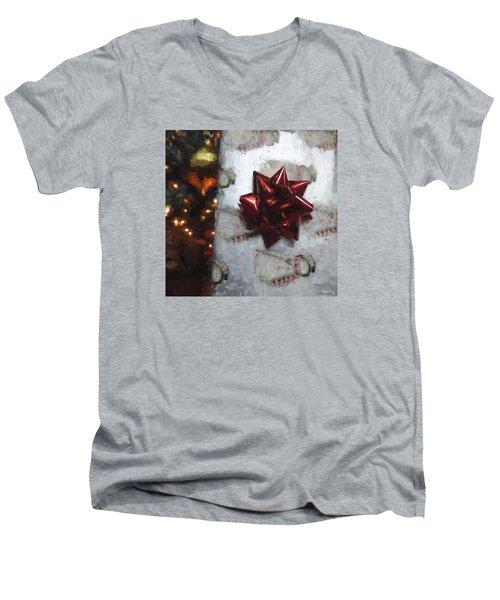 Christmas Gift Men's V-Neck T-Shirt by Cathy Jourdan