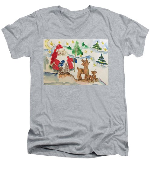 Christmas Is Coming  Men's V-Neck T-Shirt