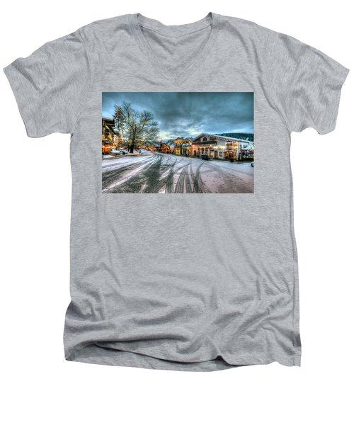 Christmas On Main Street Men's V-Neck T-Shirt