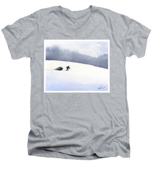 Christmas Past Men's V-Neck T-Shirt