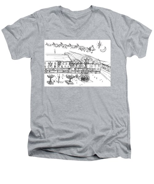 Christmas Shopping Men's V-Neck T-Shirt