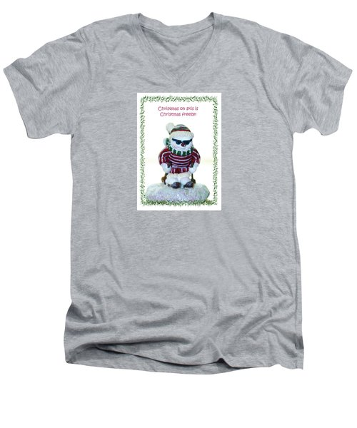 Christmas Skier Men's V-Neck T-Shirt