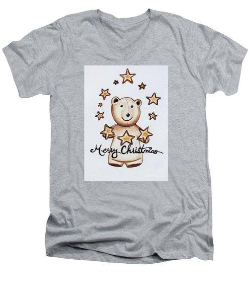 Christmas Stars Men's V-Neck T-Shirt