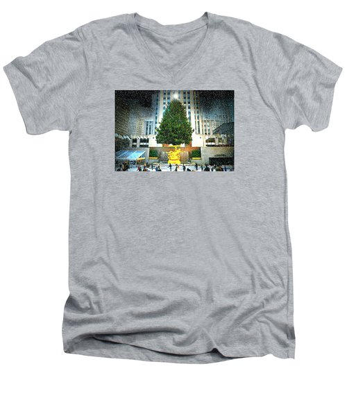Christmas Tree 2015 Men's V-Neck T-Shirt