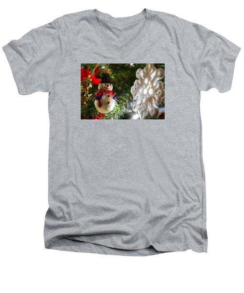 Christmas Tree Memories Men's V-Neck T-Shirt