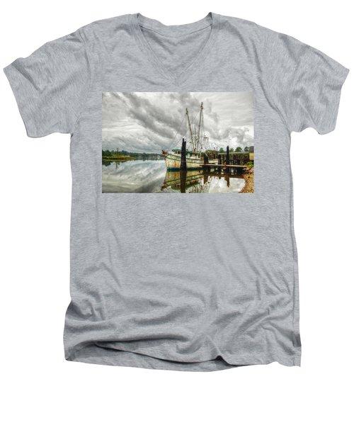 Christy Lynn On Bon Secour Men's V-Neck T-Shirt