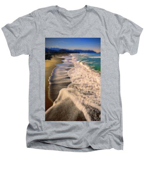 Chromatic Aberration At The Beach Men's V-Neck T-Shirt