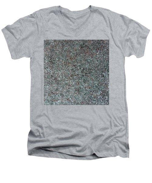Chrome Mist Men's V-Neck T-Shirt by Alan Casadei