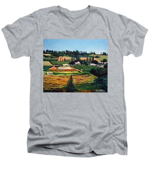 Chubby's Farm Men's V-Neck T-Shirt