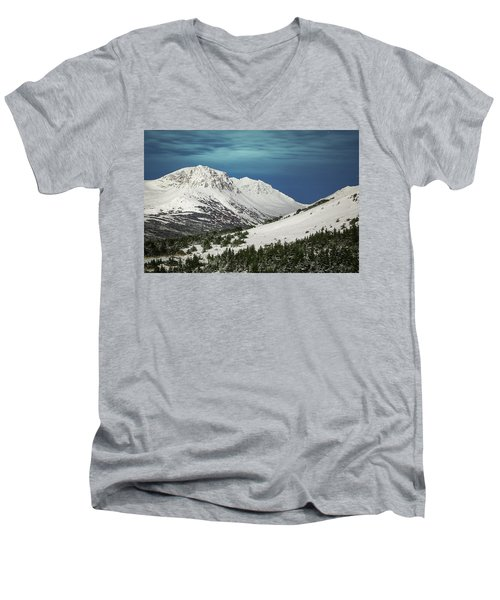 Chugach Night Men's V-Neck T-Shirt