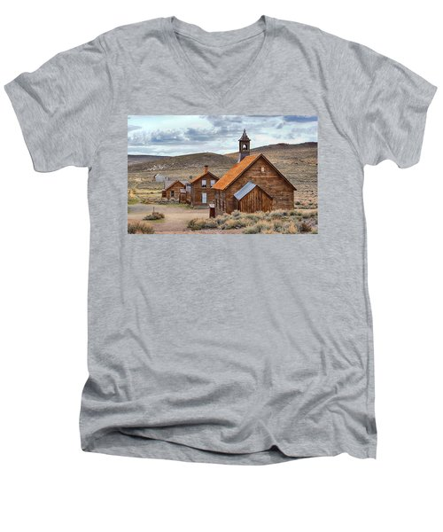 Church At Bodie Ghost Town Men's V-Neck T-Shirt