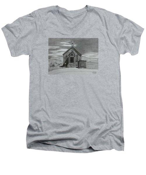 Church  At Bodie  Men's V-Neck T-Shirt by Tony Clark