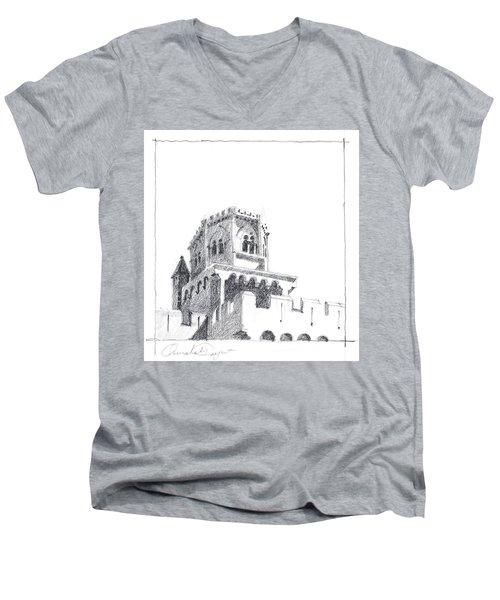 Church At Chamalieres Men's V-Neck T-Shirt
