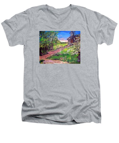 Church In The Woods Men's V-Neck T-Shirt