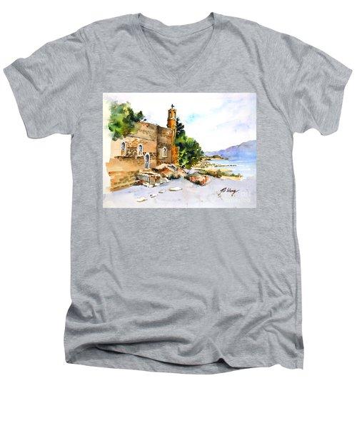 Church Of Primacy, Galilee Men's V-Neck T-Shirt