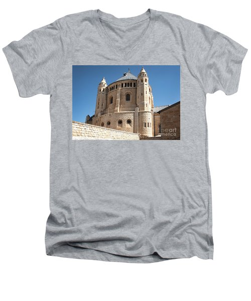 Men's V-Neck T-Shirt featuring the photograph Church Of The Dormition by Mae Wertz