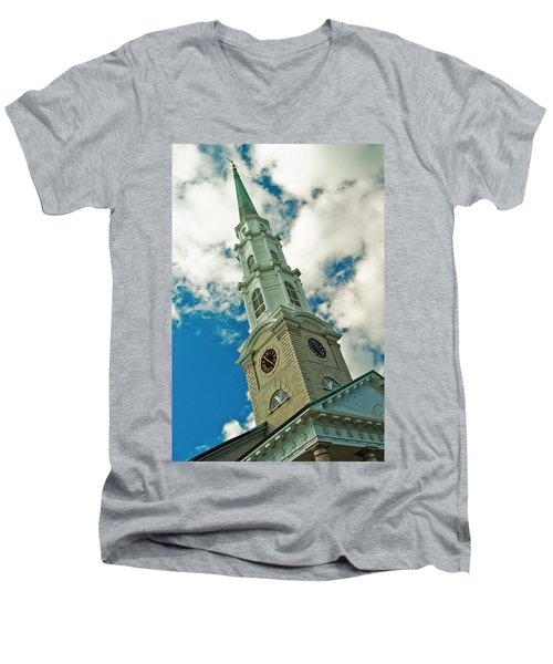 Churche Steeple Men's V-Neck T-Shirt