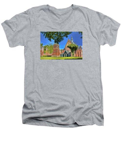 Churchyard Men's V-Neck T-Shirt by Nadia Sanowar