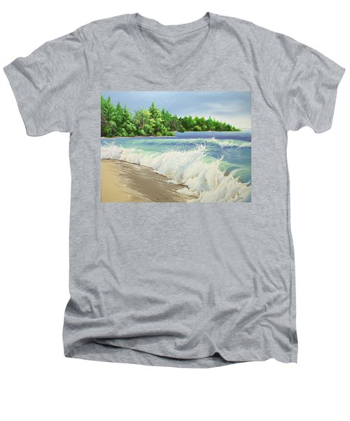 Churning Sand  Men's V-Neck T-Shirt