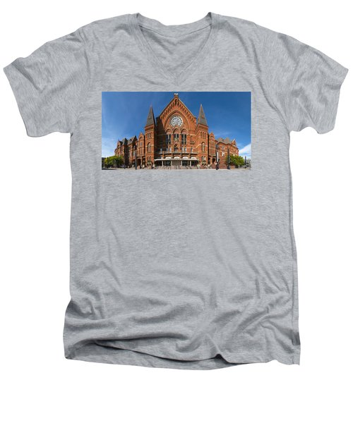Men's V-Neck T-Shirt featuring the photograph Cincinnati Music Hall by Rob Amend