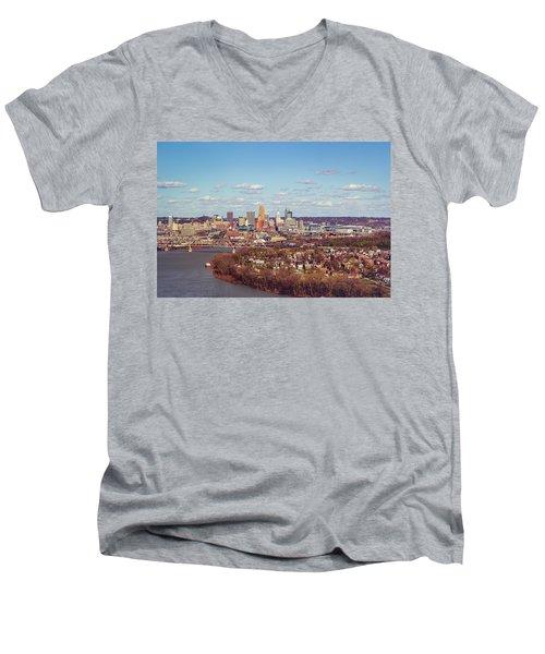 Cincinnati Skyline 2 Men's V-Neck T-Shirt