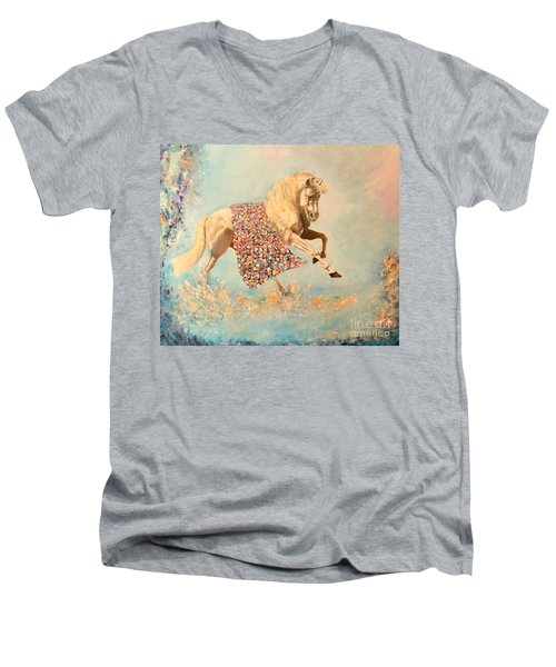 Cinderellas Unicorn Men's V-Neck T-Shirt