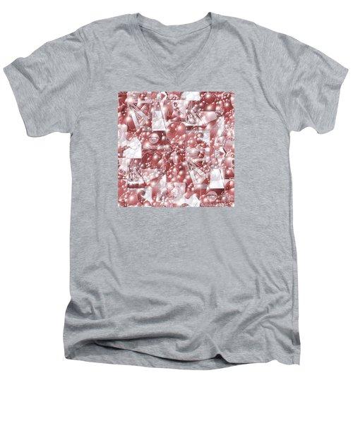 Cinnabar Carbonated Men's V-Neck T-Shirt