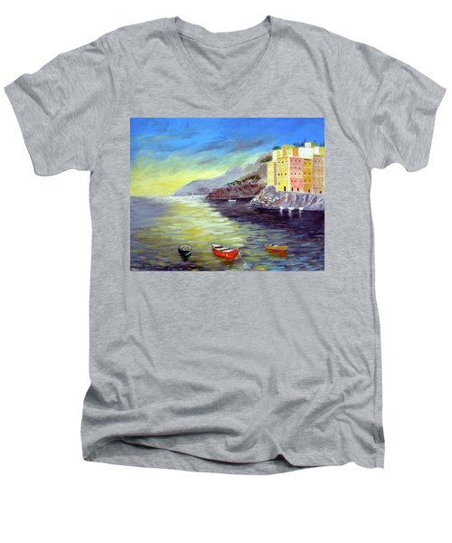 Cinque Terre Dreams Men's V-Neck T-Shirt