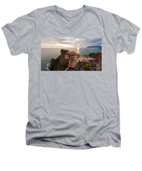 Cinque Terre Tranquility Men's V-Neck T-Shirt