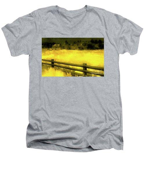 Ciquique Pueblo Meadow 2 Men's V-Neck T-Shirt