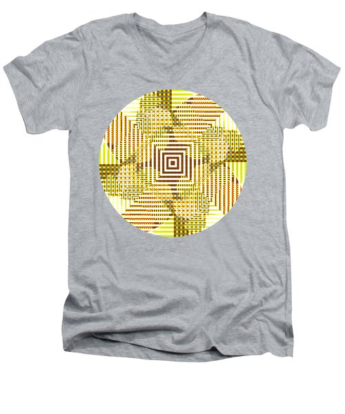 Circle And Square Abstract Men's V-Neck T-Shirt