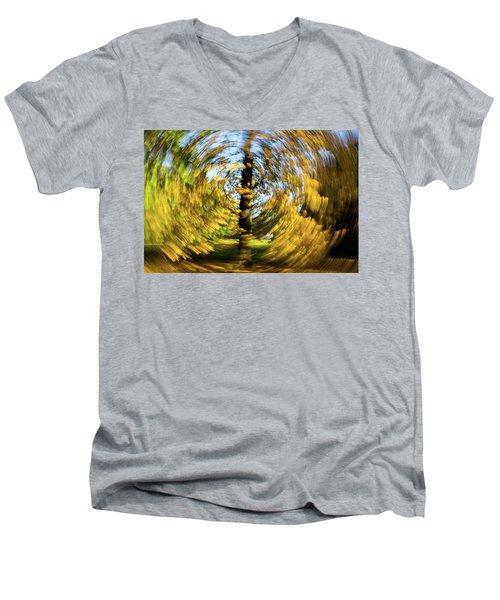 Circle Men's V-Neck T-Shirt