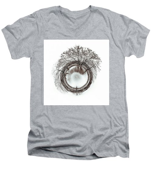 Men's V-Neck T-Shirt featuring the photograph Circle Of Trees by Wade Brooks