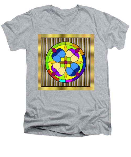 Circle On Bars 3 Men's V-Neck T-Shirt