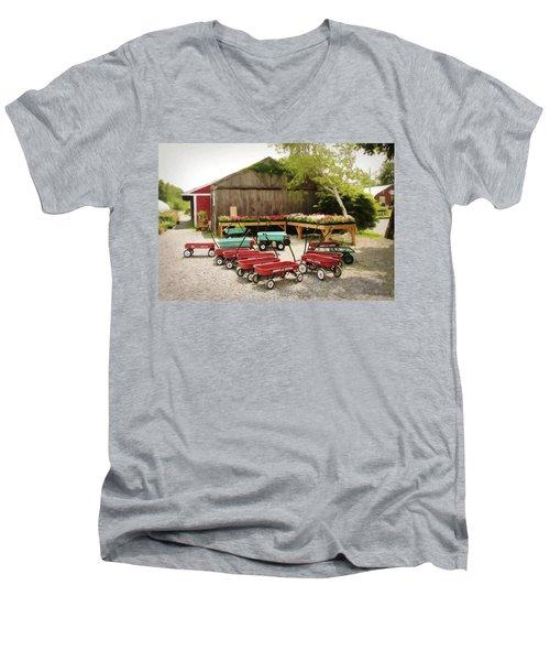 Circle The Wagons Men's V-Neck T-Shirt