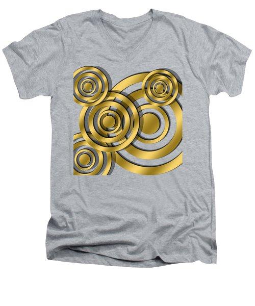 Circles - Transparent Men's V-Neck T-Shirt