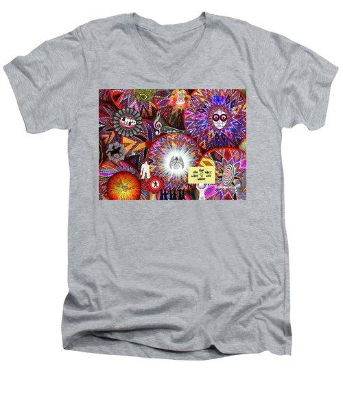 Circles Everywhere Men's V-Neck T-Shirt