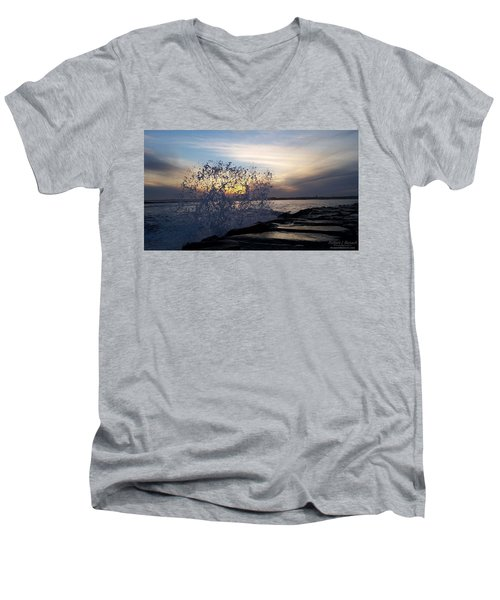 Circling Sunset Men's V-Neck T-Shirt