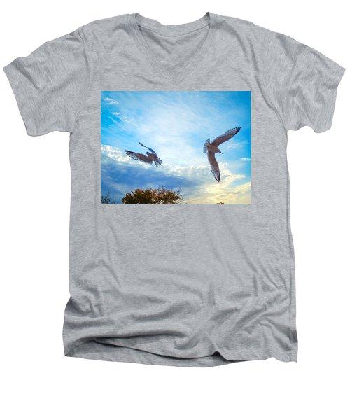 Circling Wings  Men's V-Neck T-Shirt