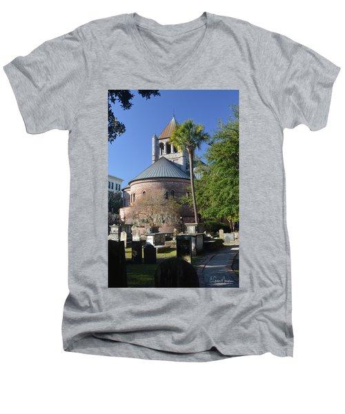 Circular Congregational Chuch 2 Men's V-Neck T-Shirt by Gordon Mooneyhan